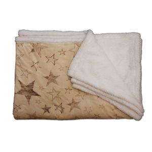 Beránková deka Stars - Béžová